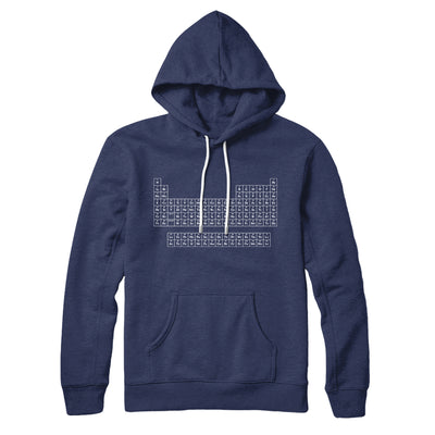 Periodic Table of Elements Hoodie-Navy - Famous IRL