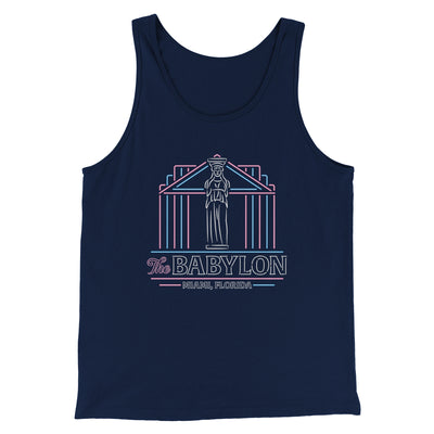 The Babylon Men/Unisex Tank Top-Men/Unisex Tank Top-White Label DTG-Navy-S-Famous IRL