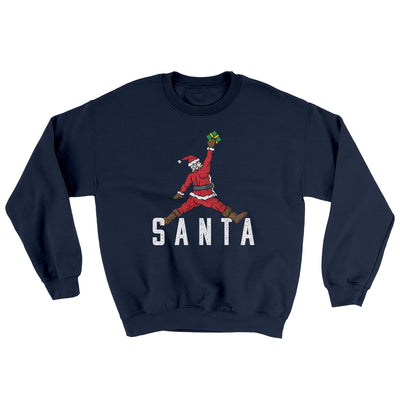 Air Santa Ugly Sweater-Ugly Sweater-White Label DTG-Navy-S-Famous IRL