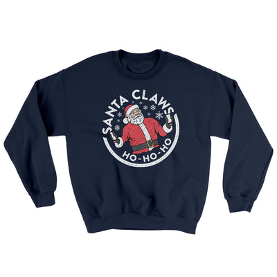 Santa Claws Ugly Sweater-Ugly Sweater-White Label DTG-Navy-S-Famous IRL