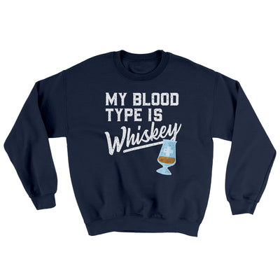 My Blood Type Is Whiskey Ugly Sweater