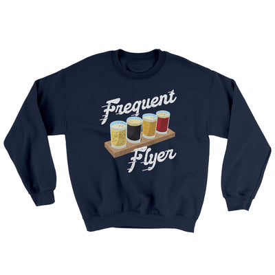 Frequent Flyer Ugly Sweater-Ugly Sweater-White Label DTG-Navy-S-Famous IRL
