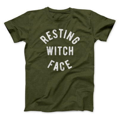 Resting Witch Face Men/Unisex T-Shirt-Olive - Famous IRL