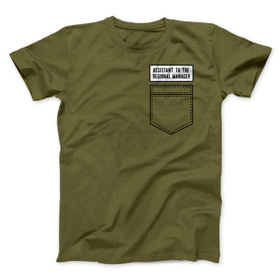 Assistant to the Regional Manager Men/Unisex T-Shirt-T-Shirt-Printify-Olive-S-Famous IRL
