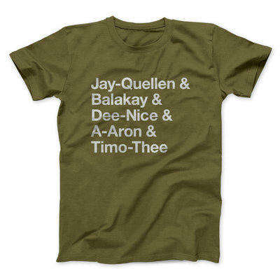 Substitute Teacher Names Men/Unisex T-Shirt-Olive - Famous IRL