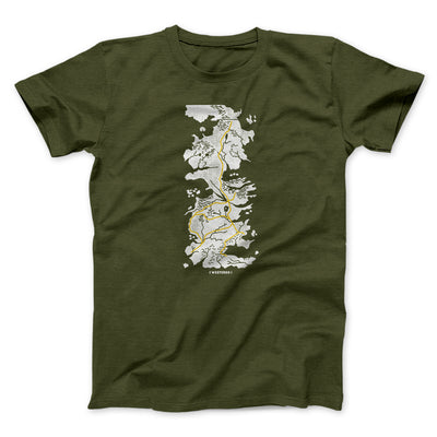 Map of Westeros Men/Unisex T-Shirt-Olive - Famous IRL