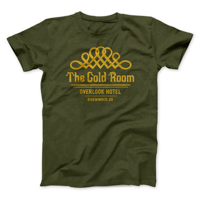 The Gold Room Men/Unisex T-Shirt-Men/Unisex T-Shirt-White Label DTG-Olive-S-Famous IRL