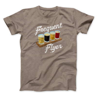Frequent Flyer Men/Unisex T-Shirt-Men/Unisex T-Shirt-White Label DTG-Pebble Brown-S-Famous IRL