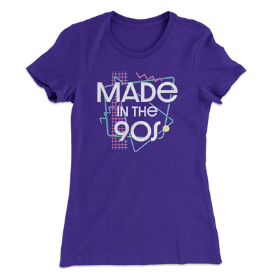 Made In The 90s Women's T-Shirt-Women's T-Shirt-White Label DTG-Purple Rush-S-Famous IRL