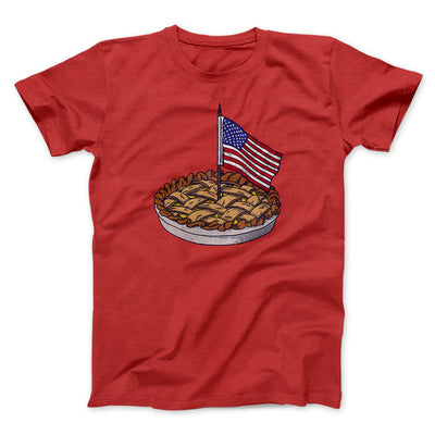 American Apple Pie Men/Unisex T-Shirt-Red - Famous IRL