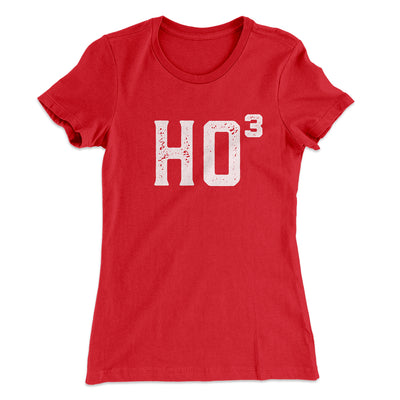 Ho Cubed Women's T-Shirt-Solid Red - Famous IRL