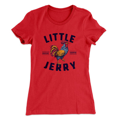 Little Jerry Women's T-Shirt-Solid Red - Famous IRL
