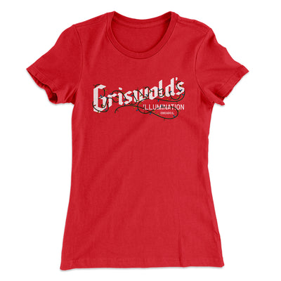 Griswold's Illumination Women's T-Shirt-Solid Red - Famous IRL