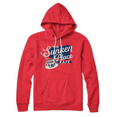 The Sunken Place Cafe Hoodie-Hoodie-Printify-Red-S-Famous IRL