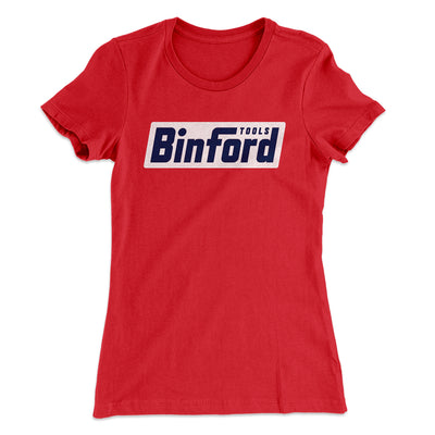 Binford Tools Women's T-Shirt-Solid Red - Famous IRL