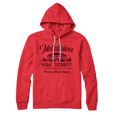 McCallister's Home Security Hoodie-Red - Famous IRL