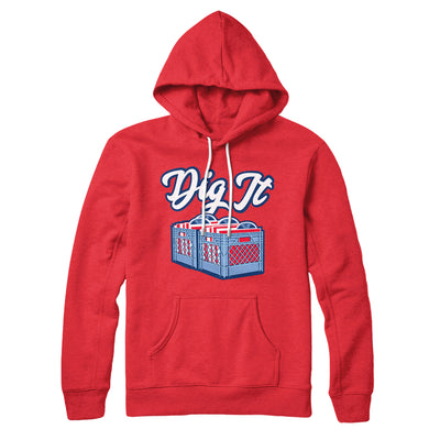 Dig It - Record Crate Hoodie-Red - Famous IRL