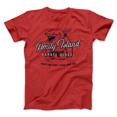 Amity Island Karate School Men/Unisex T-Shirt-Red - Famous IRL