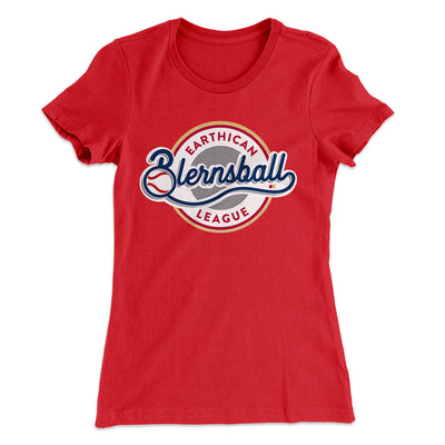 Earthican Blernsball League Women's T-Shirt-Solid Red - Famous IRL