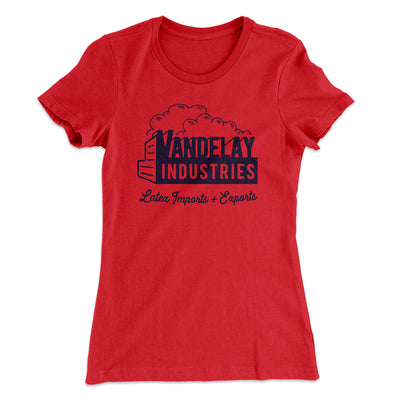 Vandelay Industries Women's T-Shirt-Solid Red - Famous IRL