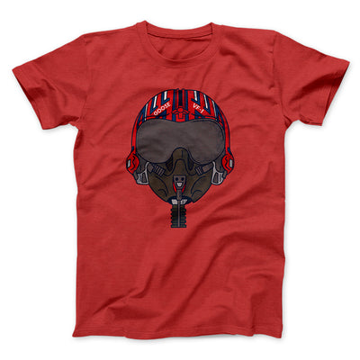 Goose Helmet Men/Unisex T-Shirt-Red - Famous IRL