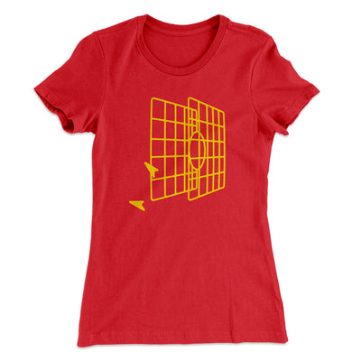 Millennium Falcon Target Women's T-Shirt-Solid Red - Famous IRL