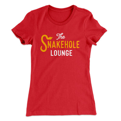 Snakehole Lounge Women's T-Shirt-Solid Red - Famous IRL
