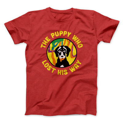 The Puppy Who Lost His Way Men/Unisex T-Shirt-Red - Famous IRL