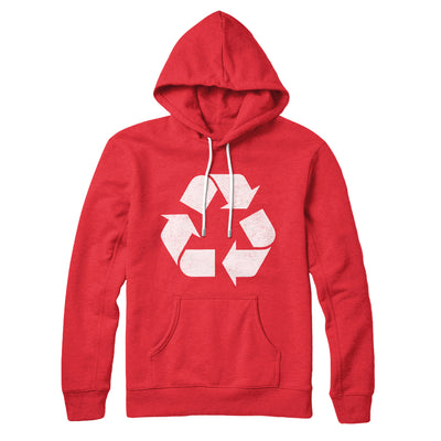 Recycle Symbol Hoodie-Red - Famous IRL