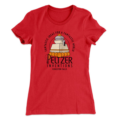 Peltzer Inventions Women's T-Shirt-Women's T-Shirt-White Label DTG-Red-S-Famous IRL
