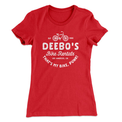 Deebo's Bike Rentals Women's T-Shirt-Solid Red - Famous IRL