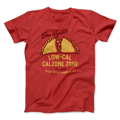 Ben Wyatt's Low Cal Calzone Zone Men/Unisex T-Shirt-Red - Famous IRL