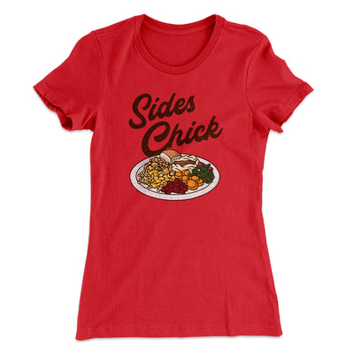 Sides Chick Women's T-Shirt-Women's T-Shirt-White Label DTG-Red-S-Famous IRL