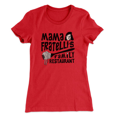 Mama Fratelli's Family Restaurant Women's T-Shirt-Solid Red - Famous IRL