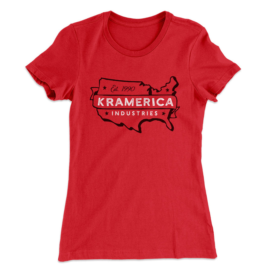 7aa922271fc2 Kramerica Industries Women s T-Shirt-Solid Red - Famous IRL