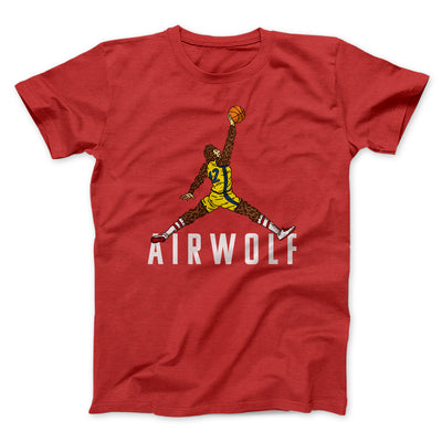 Air Wolf Men/Unisex T-Shirt-Red - Famous IRL