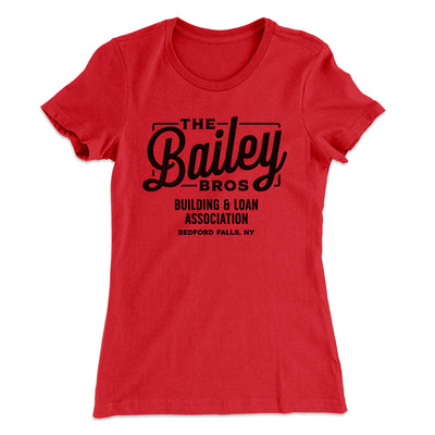 Bailey Brothers Women's T-Shirt-Solid Red - Famous IRL