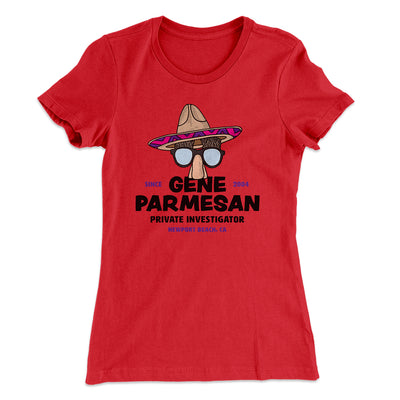 Gene Parmesan Women's T-Shirt-Solid Red - Famous IRL