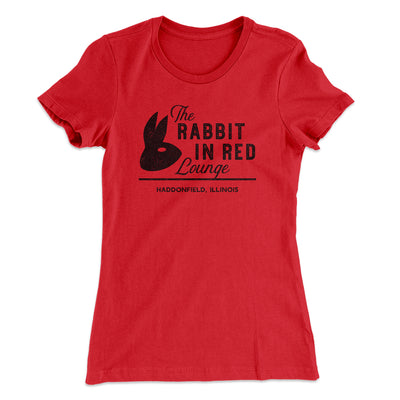 The Rabbit in Red Lounge Women's T-Shirt-Solid Red - Famous IRL