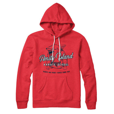 Amity Island Karate School Hoodie - Famous IRL Funny and Ironic T-Shirts and Apparel