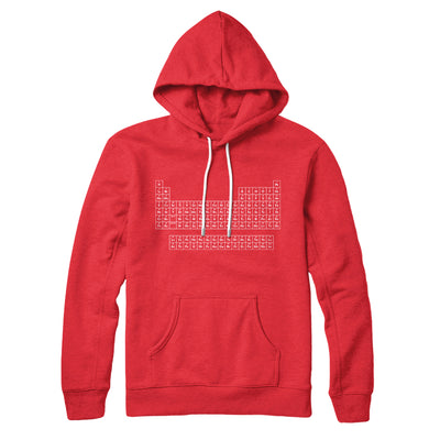 Periodic Table of Elements Hoodie-Red - Famous IRL