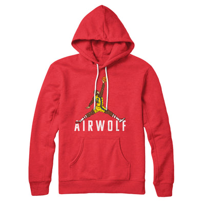 Air Wolf Hoodie-Red - Famous IRL