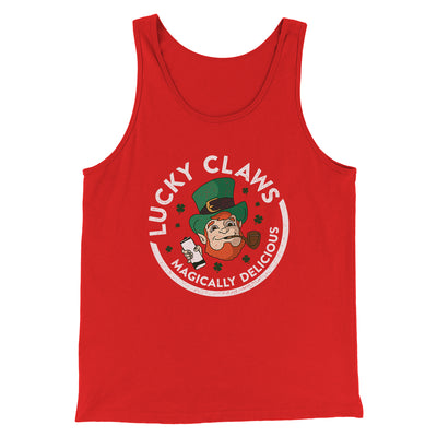 Lucky Claws Men/Unisex Tank-Men/Unisex Tank Top-White Label DTG-Red-S-Famous IRL
