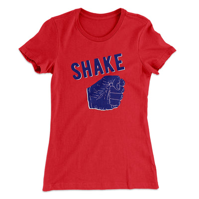 Shake Women's T-Shirt-Solid Red - Famous IRL
