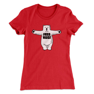 Free Hugs Women's T-Shirt-Solid Red - Famous IRL