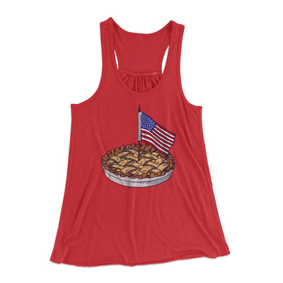 American Apple Pie Women's Flowey Racerback Tank Top - Famous IRL Funny and Ironic T-Shirts and Apparel