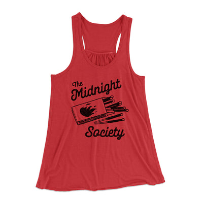 The Midnight Society Women's Flowey Tank-Tank Top-Printify-Red-XS-Famous IRL