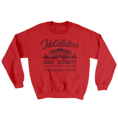 McCallister's Home Security Men/Unisex Ugly Sweater-Red - Famous IRL