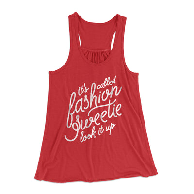 It's Called Fashion Sweetie Women's Flowey Racerback Tank Top-Red - Famous IRL