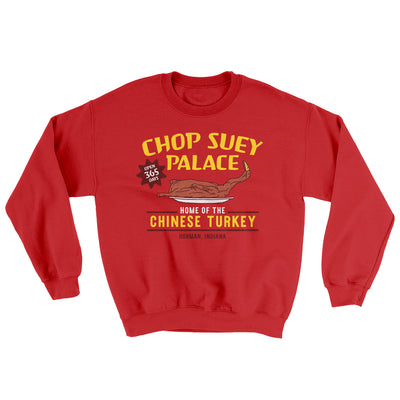 Chop Suey Palace Ugly Sweater-Red - Famous IRL